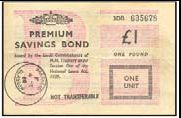 £1 PREMIUM SAVINGS BOND 1968 / PREMIUM BONDS